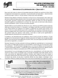 Bulletin d'information des bureaux d'études n°134