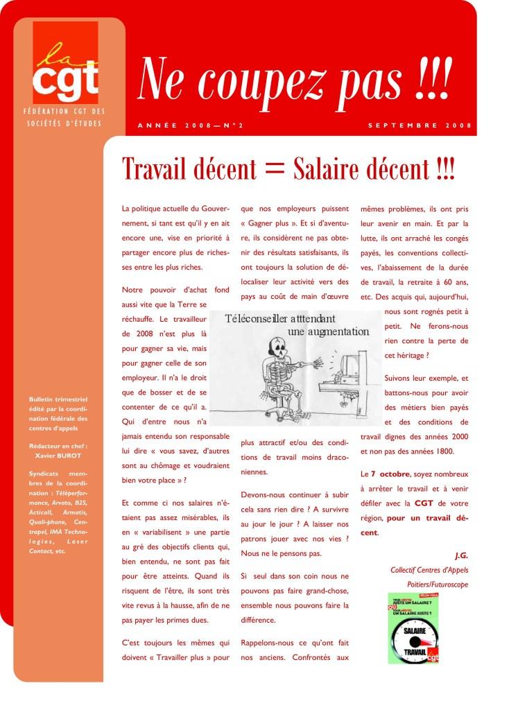 Ne Coupez Pas n°2 : Travail décent = Salaire décent !!!