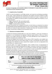 Bulletin d'information CGT Experts Comptables N°100