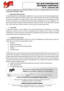 Bulletin d'information CGT Experts Comptables N°99