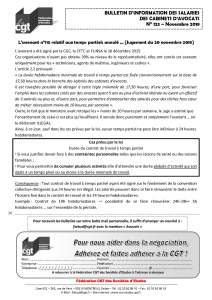 Bulletin d'information des salariés des cabinets d'avocat n°123