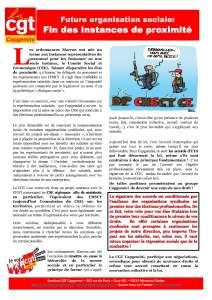 CAPGEMINI : Future organisation sociale : Fin des instances de proximité