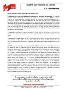 Bulletin d'information CGT Huissiers de justice n°67