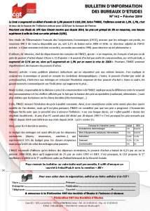 Bulletin d'information des bureaux d'études n°142