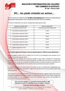 Bulletin d'information des salariés des cabinets d'avocat n°130