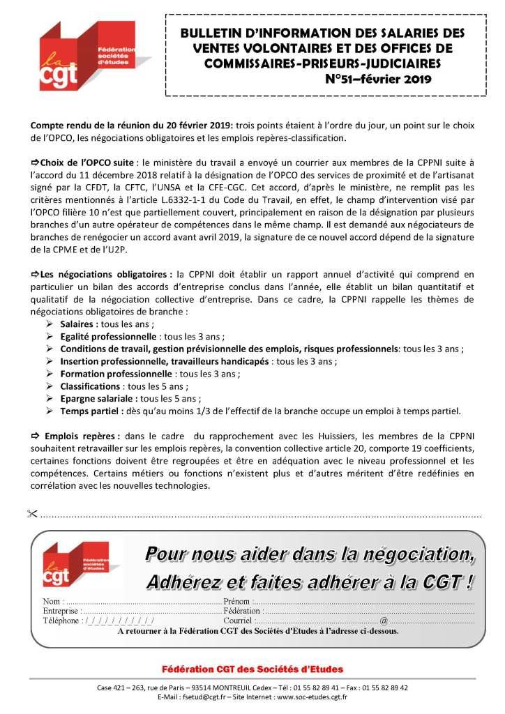 Bulletin d'information des salariés des commissaires-priseurs n°51