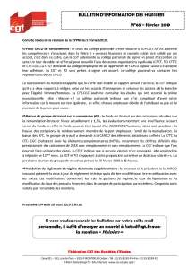 Bulletin d'information CGT Huissiers de justice n°68