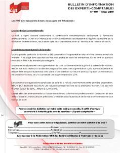 Bulletin d'information CGT Experts Comptables N°107