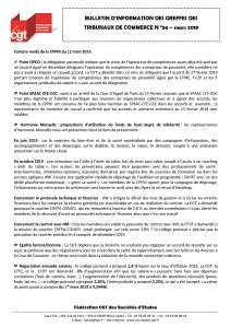Bulletin d'information CGT n°56 des Greffes des Tribunaux de Commerce