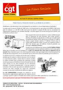 SOPRA-STERIA : Fibre sociale – Communication 1er trimestre 2019