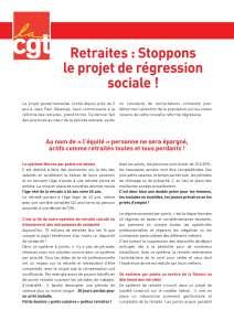 Retraites : Stoppons le projet de régression sociale !