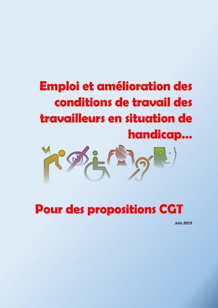 Emploi et amélioration des conditions de travail des travailleurs en situation de handicap… Pour les propositions CGT