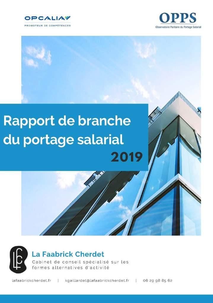 Rapport de la branche du portage salarial 2019