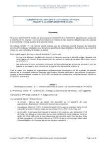 Avenant n°3 du 28/11/2019 à l'accord du 07/10/2015 relatif à la complémentaire santé