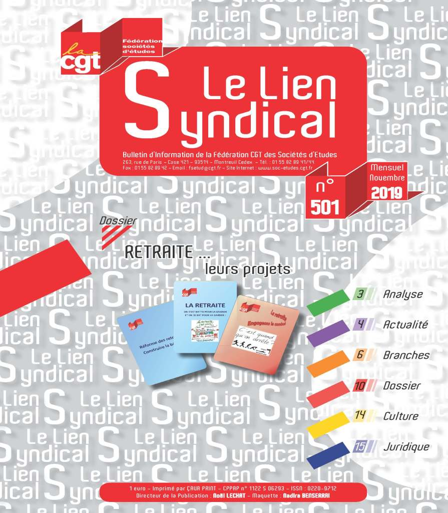 Le lien syndical n°501 – Novembre 2019