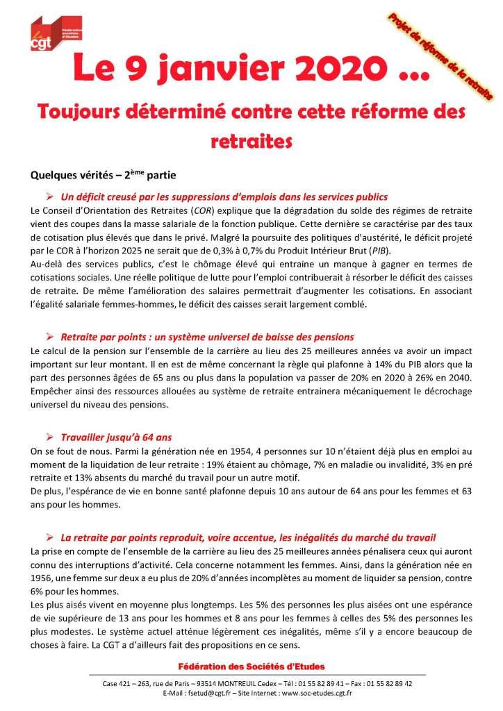 Le 9 janvier 2020 … Toujours déterminé contre cette réforme des retraites