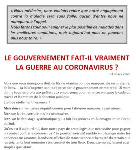 LE GOUVERNEMENT FAIT-IL VRAIMENT LA GUERRE AU CORONAVIRUS ?