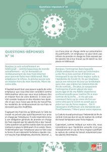 Coronavirus : Questions-réponses n°14