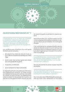 Coronavirus : Questions-réponses n°7