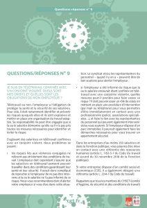 Coronavirus : Questions-réponses n°9