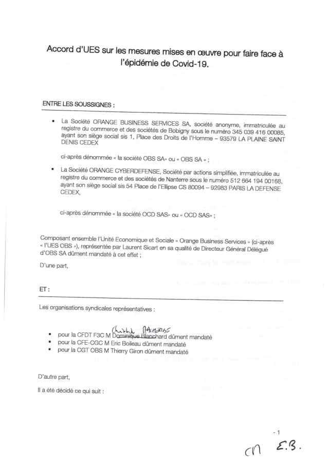 Orange Business Services : Mesures pour faire face au Covid-19
