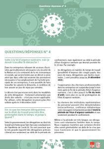 Coronavirus : Questions-réponses n°4