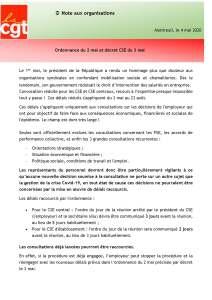 Ordonnance du 2 mai et décret CSE du 3 mai