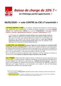 VWIS : Baisse de charge de 10%( – Un chômage partiel opportuniste !