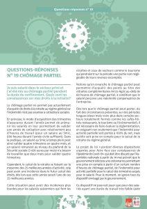 Coronavirus : Questions-réponses n°19