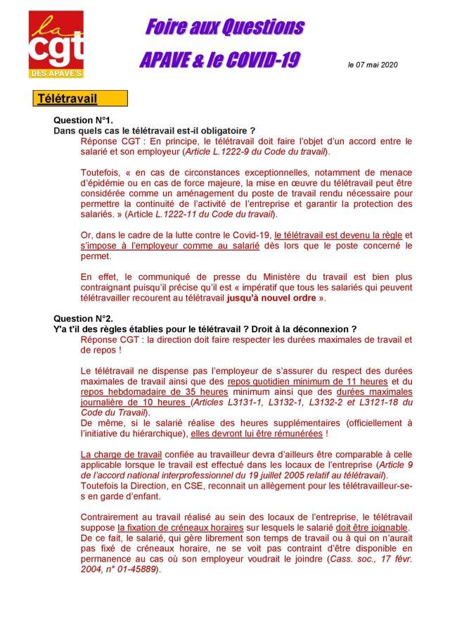 APAVE : Info groupe n°94 – Foire aux questions