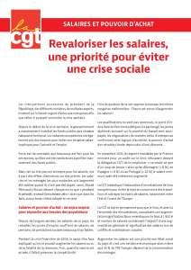 Revaloriser les salaires, une priorité pour éviter une crise sociale