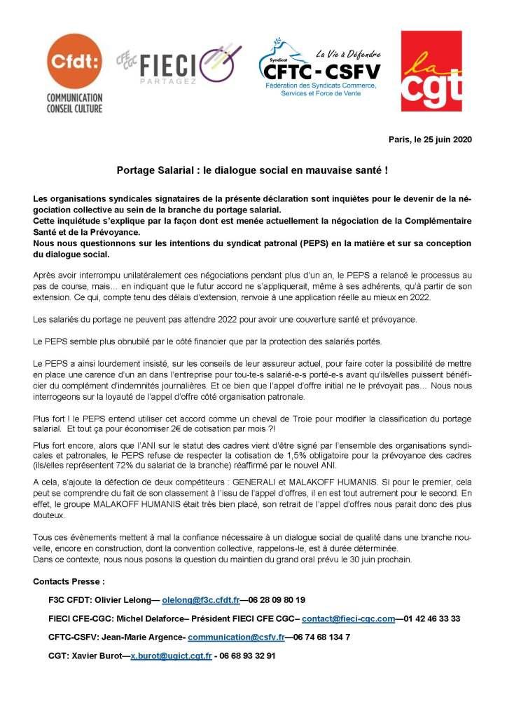 Portage Salarial : le dialogue social en mauvaise santé !