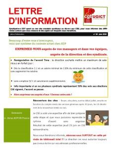 ADP-GSI : Lettre d'information n°29 – Juin 2020