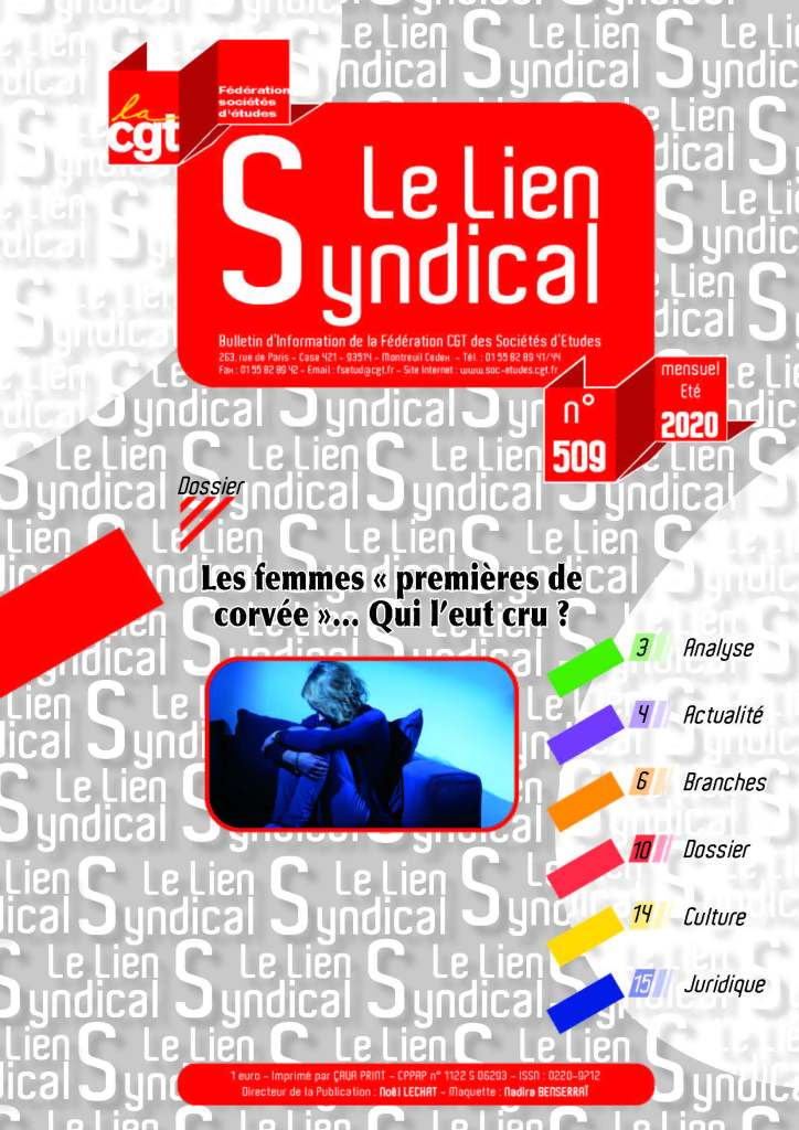 Le lien syndical n°509 – Eté 2020