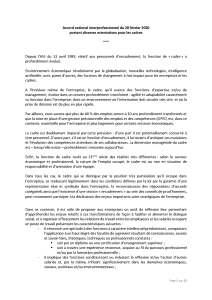 Accord national interprofessionnel du 28 février 2020 portant diverses orientations pour les cadres