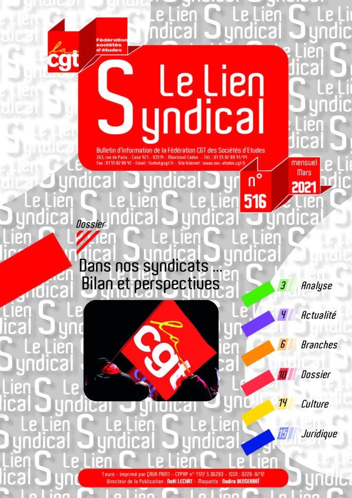 Le lien syndical n°516 – Mars 2021