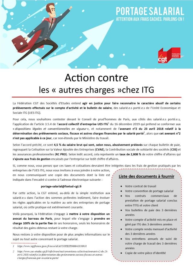 Action contre les « autres charges » chez ITG