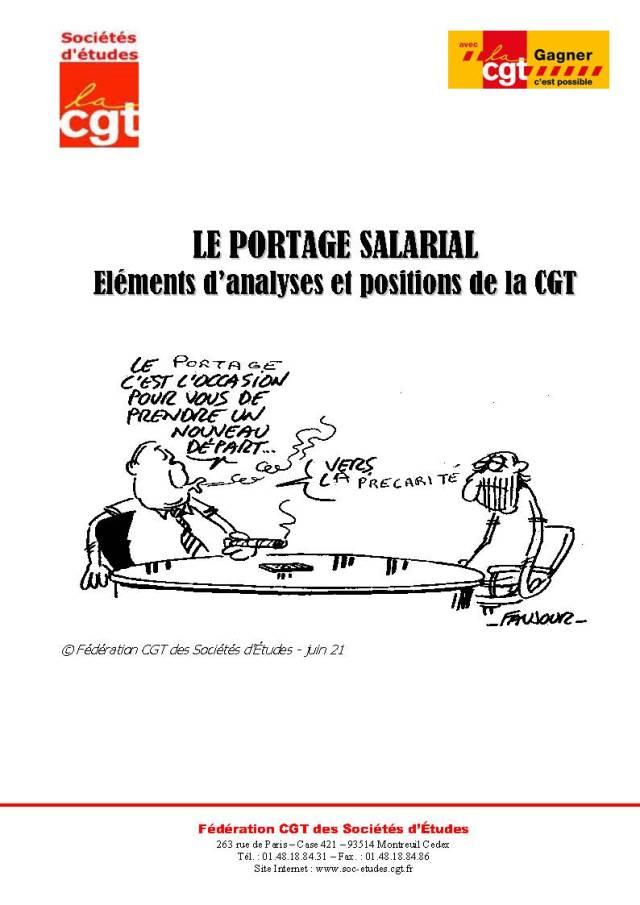 LE PORTAGE SALARIAL : Eléments d'analyses et positions de la CGT