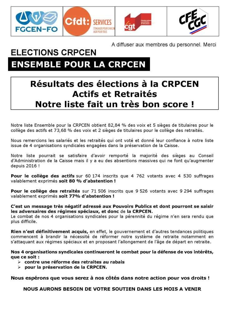 Ensemble pour la CRPCEN – Bulletin n°6