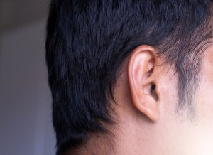 Close Up of mans ear