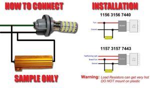 LED Load Resistors diagram