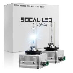D3S HID Bulbs 6000k White Super Bright