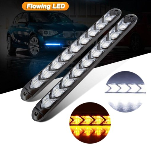 """Arrow LED DRL Switchback Strips 10"""" Sequential Flashing"""