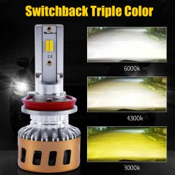 LED Headlight Kit Switchback Yellow White