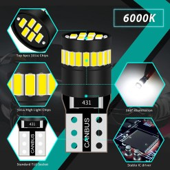 T10 LED Bulb 6000K White Canbus error free