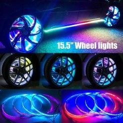 LED Wheel Light Rings 15.5in