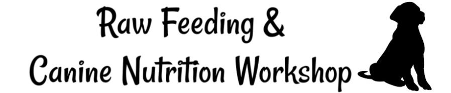 raw feeding puppies workshop