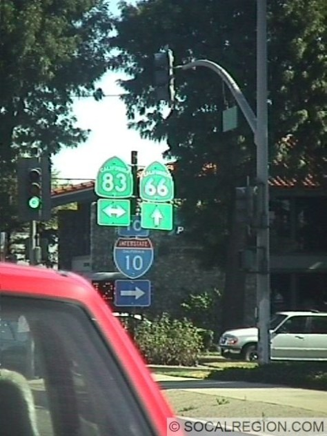 Junction at SR-83 (Euclid Ave) in Upland.