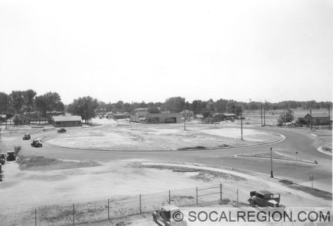 Garces Circle in the late 1930's.