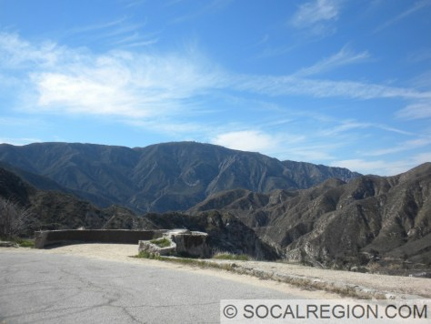 Vista Point near the upper end of Big Tujunga Canyon Road. This overlooks the Big Tujunga Dam.